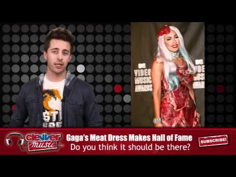 Lady Gaga's Meat Dress Makes Rock n' Roll Hall of Fame