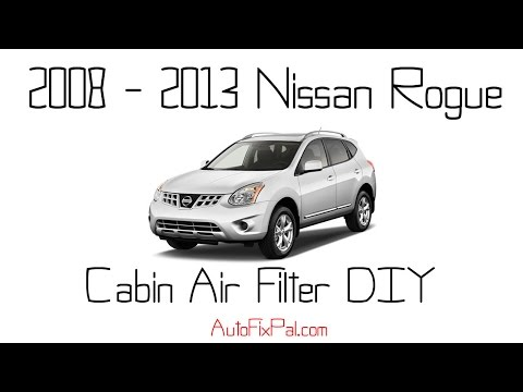 2008 to 2013 Nissan Rogue Cabin air filter replacement