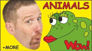 Animals for Kids + MORE Funny Stories for Children | Steve and Maggie from Wow English TV