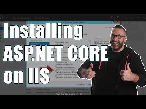 Installing an ASP .NET CORE Site on an IIS Server