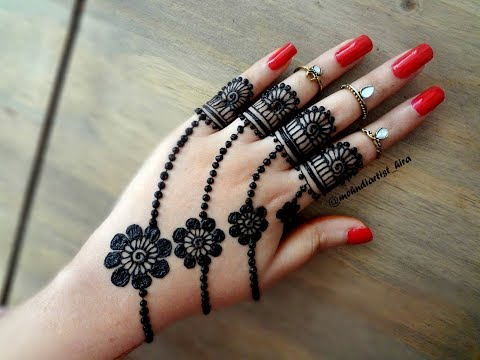 Beautiful trendy simple easy henna mehndi Design for hands for eid,weddings