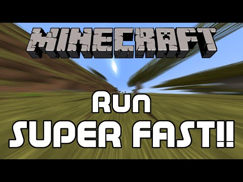 How to Run Super Fast in Minecraft
