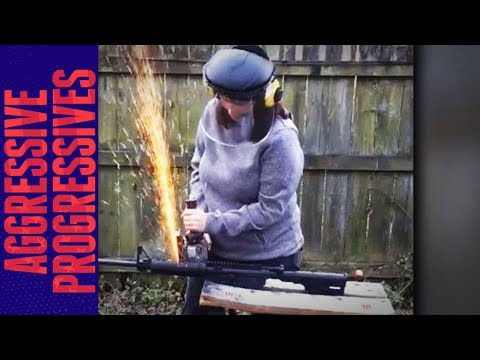 Congressional Candidate Saws Her AR-15 In Half (VIDEO)