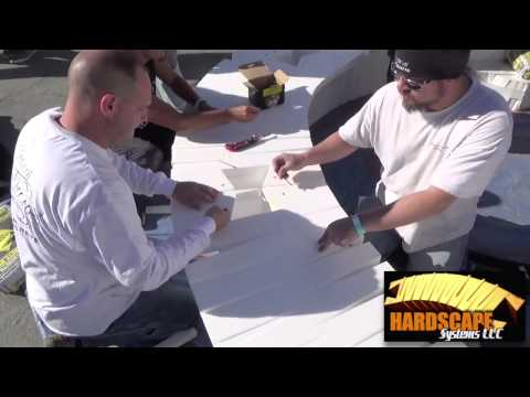 Landscape Makeover HARDSCAPE SYSTEM Seat Wall Day 1 Part 3