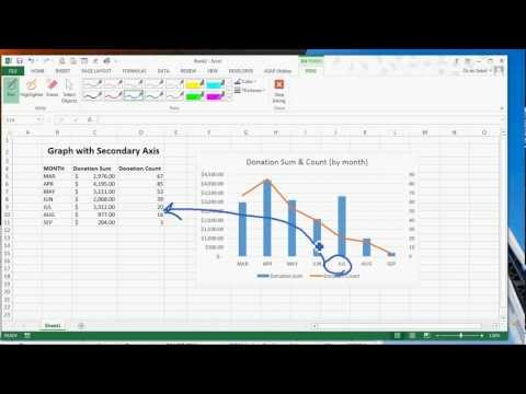 Drawing or inking in Excel