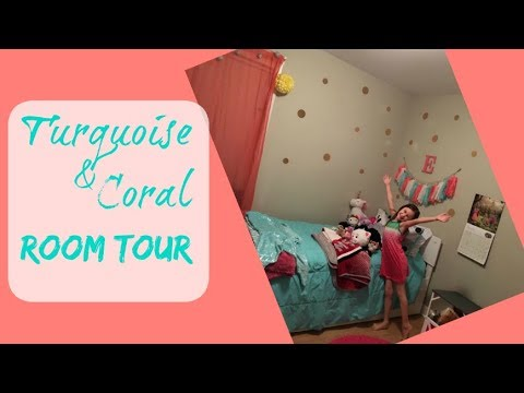 Elizabeth's Room Tour | Little Girl's Room | Turquoise and Coral Bedroom