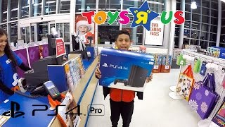 PS4Pro Shopping at Toys R Us and New TV from Best Buy