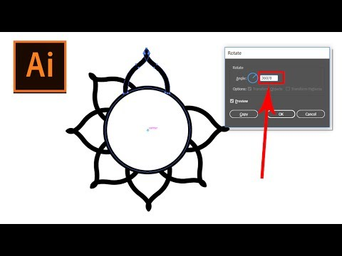 how to duplicate objects around a circle | Illustrator 2017 tutorial