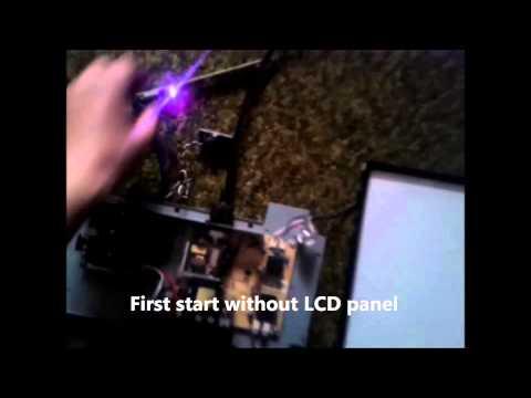 Bad backlight on LCD monitor