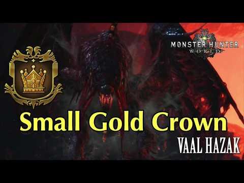 Vaal Hazak - Small Gold Crown Measure - MHW