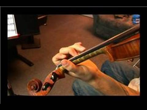 How to Play Violin Double Stops : How to Play Violin Double Stops: Line 4, Measure 3 & 4