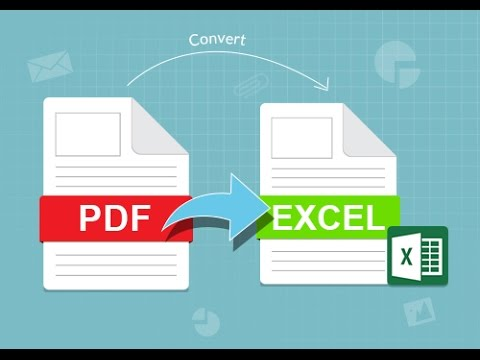 How to convert a pdf to excel online