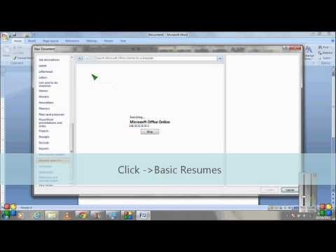 How to make Resume using Microsoft Word template.wmv