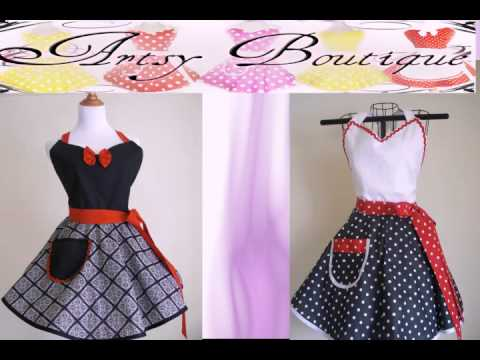 Retro Aprons by The Artsy Boutique
