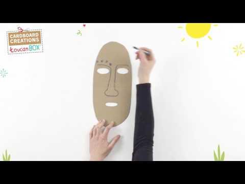 Cardboard African Mask