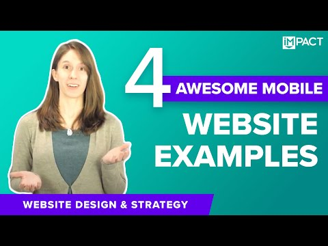 4 Awesome Mobile Website Design Examples