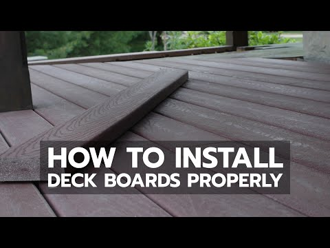 How to Install Deck Boards Properly