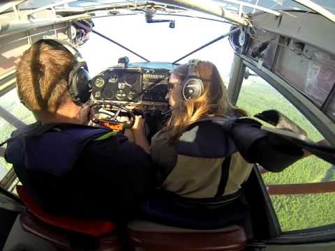 Piper Tri-Pacer Float, Take-off, Talkeetna