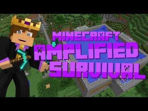 Minecraft: Amplified Survival #28 - UNLIMITED IRON INGOTS