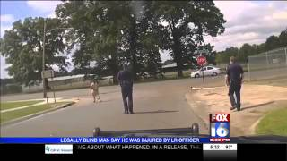 POLICE BRUTALITY - Cops Slam Disabled Blind Man To The Ground Then Lie About It In Police Report