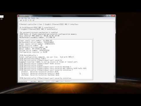 3550 Port-Security Video