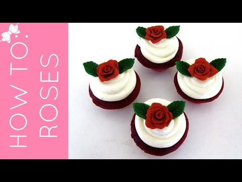 How To Make a Fondant or Candy Rose Cupcake Topper // Lindsay Ann Bakes