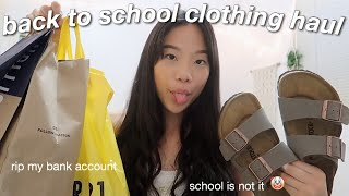 BACK TO SCHOOL TRY ON CLOTHING HAUL 2019