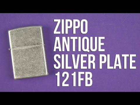 Распаковка Zippo Antique Silver Plate 121FB