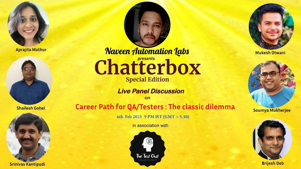 Live Webinar: Career Path for QA/Testers: The Classic Dilemma