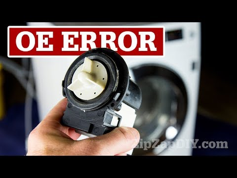 OE Error Message / LG Washing Machine Drain Pump Replacement