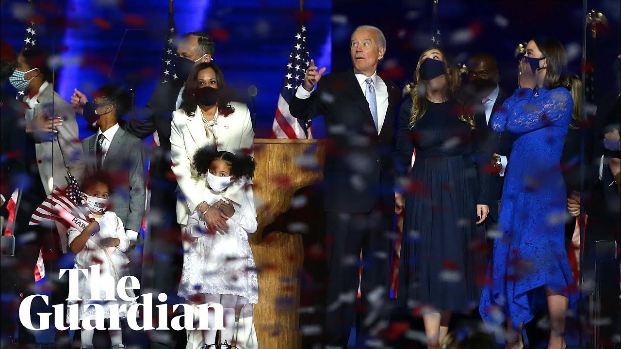 Joe Biden and Kamala Harris address nation after election win – watch live