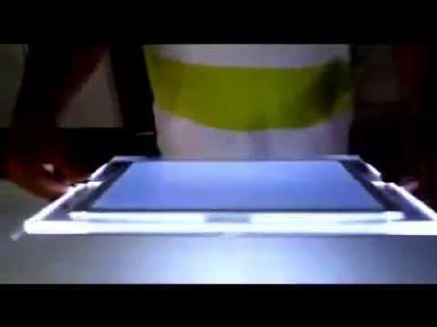 Slim Crystal LED Light Box Frame