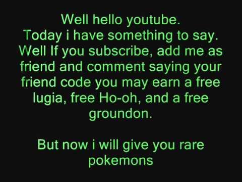 Pokemon soul silver Friend code