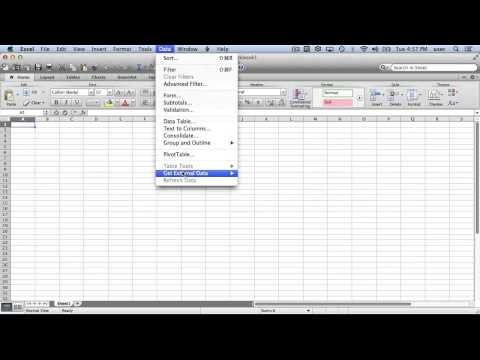 Microsoft Excel for Mac - Importing HTML Tables