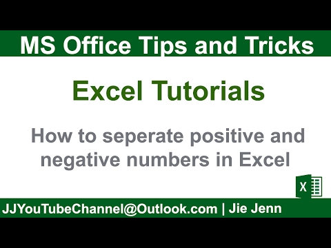 How to separate positive and negative numbers | Excel Tutorial