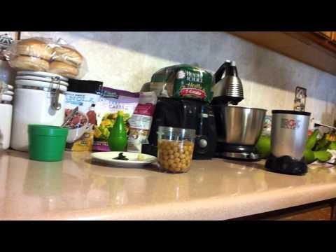 Hummus de cilantro rapido
