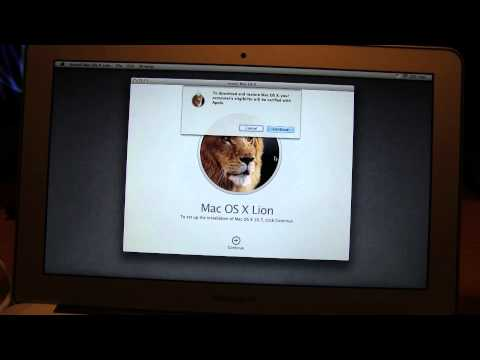 Reinstallation of OS X Lion On a 2011 MacBook Air