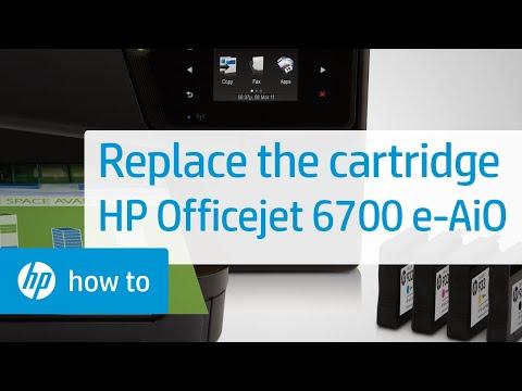 Replacing a Cartridge - HP Officejet 6700 Premium e-All-in-One Printer (H711n)