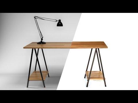 DIY Folding Sawhorse Desk [Detailed Narration]