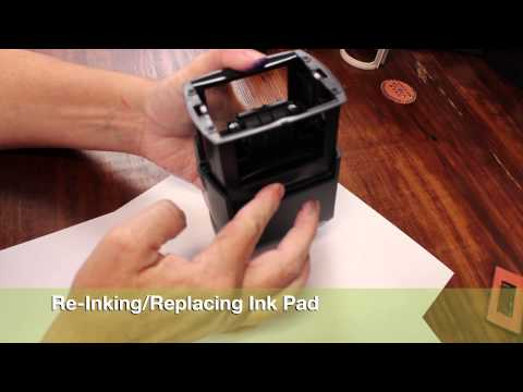 TUTORIAL : TRODAT OFFICE DATER SELF-INKING STAMP