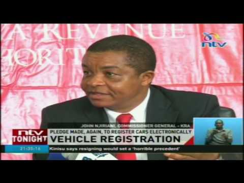 Vehicle registration: Pledge made again to register cars electronically