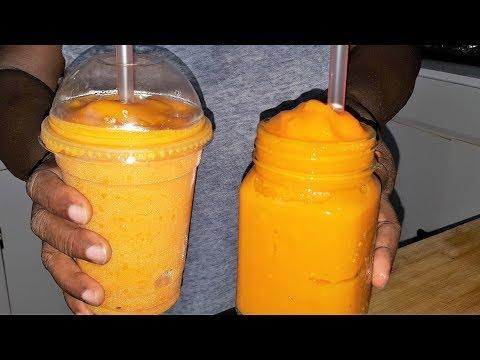 Homemade Mango Carrot Slushie