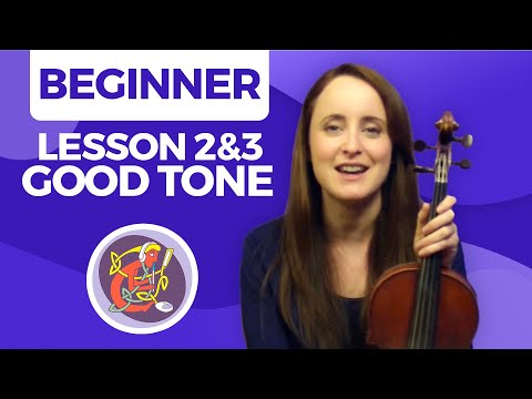 Irish Fiddle Lessons For Beginners #2&3: Create a Good Tone On Your Fiddle