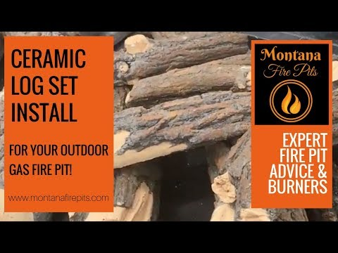 Ceramic logs for your outdoor gas fire pit