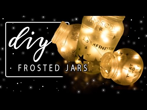 DIY ╳ Frosted Jars