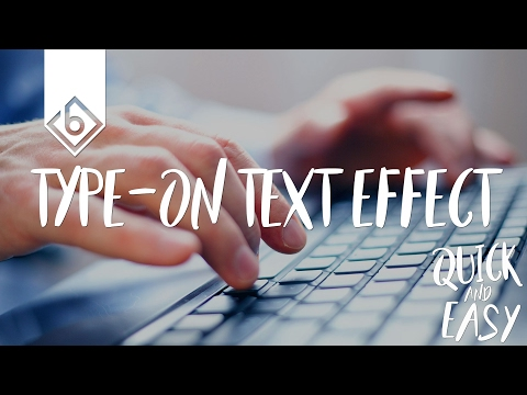 Quick & Easy Way To Create Type-On Text Effect - Sony Vegas Tutorial