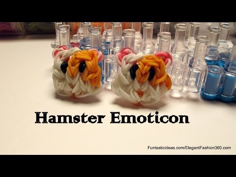 Rainbow loom Hamster Face/Emoticon/Emoji charm - How to