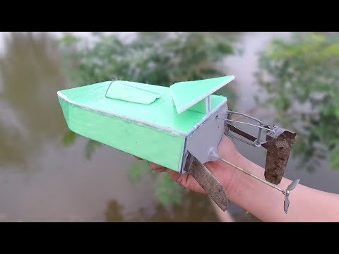 How To Make A Remote Control Boat At Home -  Diy Rc Racing speed Boat