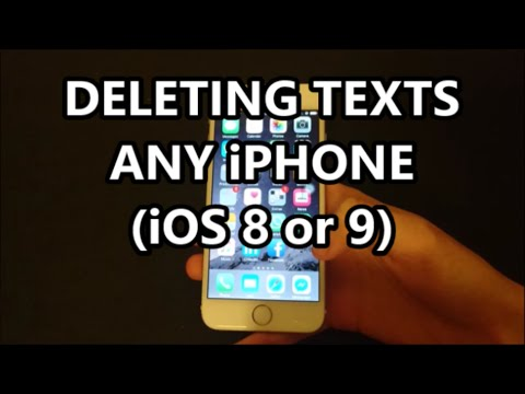 iPhone 6S Delete Individual Text Messages, Conversations, and Multiple Conversations Same Time