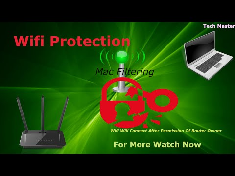 How to protect  wifi password with mac address filtering in Hindi/urdu
